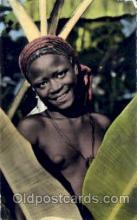afr001465 - Sourire de jeune Fille African Nude Post Card Post Card