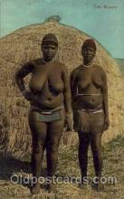 afr001468 - Zulu Woman African Nude Post Card Post Card