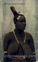 afr001470 - Zulu Woman African Nude Post Card Post Card