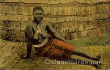 afr001505 - Zulu Girl African Nude Post Card Post Card
