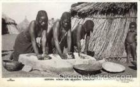 afr001529 - Griding Durra for Merrissa KordofanAfrican Nude Nudes Postcard Post Card