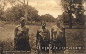 afr001530 - Inhambane Tres Beldades African Nude Nudes Postcard Post Card