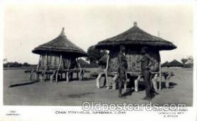 afr001531 - Terrekaka, Sudan Grain Storehouse, African Nude Nudes Postcard Post Card
