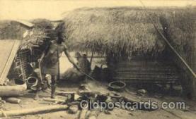 afr001534 - Fabrication du sel chez les Basakata African Nude Nudes Postcard Post Card