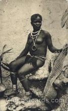 afr001543 - A Matabele Belle African Nude Nudes Postcard Post Card