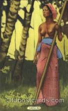 afr001585 - Tahitian Girl African Nude Post Card Post Card