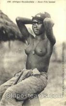 afr001593 - Jeune Fille Saussai, O.F. Fortier Dakar African Nude Post Card Post Card