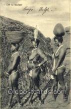 afr001606 - Off To Market African Nude Nudes, Old Vintage Postcard Post Card