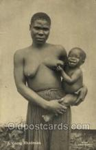 afr001611 - A Young Rodesian African Nude Nudes, Old Vintage Postcard Post Card