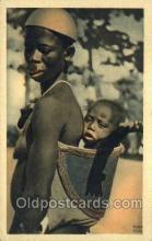 afr001612 - Potrait De Femme Toubourie African Nude Nudes, Old Vintage Postcard Post Card