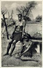 afr001614 - Dusky Beauties African Nude Nudes, Old Vintage Postcard Post Card
