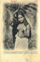 afr001629 - Rodiya Woman African Nude Nudes, Old Vintage Postcard Post Card