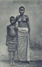 afr001654 - Dahomey Jeunes Filles African Nude Nudes Postcard Post Card