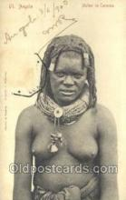 afr001670 - Angola Mulher de Caconda African Nude Nudes Postcard Post Card