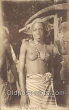 afr001672 - Type de l'A.O.F. African Nude Nudes Postcard Post Card