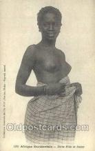afr001690 - Afrique Occidentale Jeune Fille de Dakar African Nude Nudes Postcard Post Card