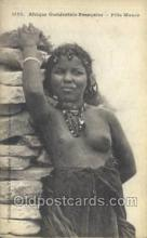 afr001720 - Afrique Occidentale Fille Maura African Nude Nudes Postcard Post Card