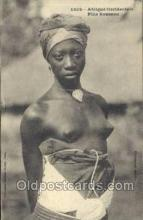 afr001727 - Afrique Occidentale Fille Soussou African Nude Nudes Postcard Post Card