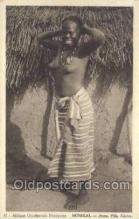 afr001746 - Afrique Occidentale Senegal - Jeune Fille Cerere African Nude Nudes Postcard Post Card
