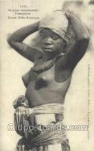 afr001813 - Jeune Fille Soussou African Nude Nudes Postcard Post Card