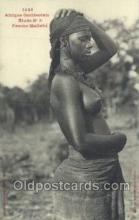 afr001818 - Femme Malinke African Nude Nudes Postcard Post Card