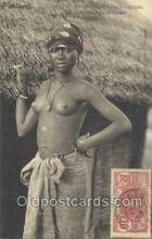 afr001827 - Jeune Fille Saussai African Nude Nudes Postcard Post Card