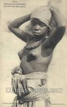 afr001829 - Jeune Fille Soussai African Nude Nudes Postcard Post Card