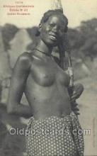 afr001832 - Jeune Soussou African Nude Nudes Postcard Post Card