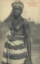 afr001833 - Fille Soussou African Nude Nudes Postcard Post Card