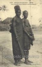 afr001838 - Senegal, Roi Diola et sa femme African Nude Nudes Postcard Post Card