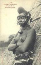 afr001847 - Femme Foulsh African Nude Nudes Postcard Post Card