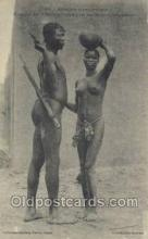 afr001850 - Couple de Bobos African Nude Nudes Postcard Post Card