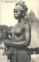afr001862 - Femme Soussou African Nude Nudes Postcard Post Card