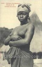 afr001863 - Femme Soussou African Nude Nudes Postcard Post Card