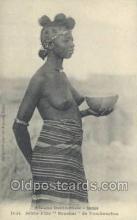afr001870 - Jeune Fille Sonrhai African Nude Nudes Postcard Post Card