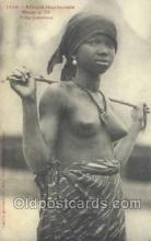 afr001871 - Fille Soussou African Nude Nudes Postcard Post Card