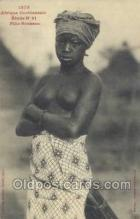 afr001874 - Fille Soussou African Nude Nudes Postcard Post Card