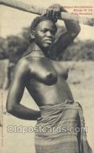 afr001875 - Fille Soussou African Nude Nudes Postcard Post Card