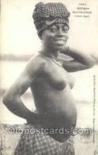 afr001881 - Jeune Agni African Nude Nudes Postcard Post Card