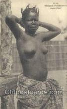 afr001883 - Jeune Fanti African Nude Nudes Postcard Post Card