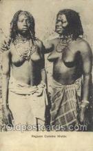 afr002124 - Ragazze Cunama Marda African Nude Nudes Postcard Post Card