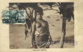 afr002136 - Ragazza Bilena African Nude Nudes Postcard Post Card