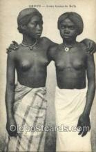 afr002148 - Guinee African Nude Nudes Postcard Post Card