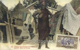 afr002187 - Dakar African Nude Nudes Postcard Post Card