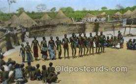 afr002253 - Danses au Village African Nude Nudes Postcard Post Card