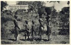 afr002259 - Makalanga Maidens African Nude Nudes Postcard Post Card
