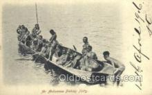 afr002261 - An Andamese Fishing Party African Nude Nudes Postcard Post Card