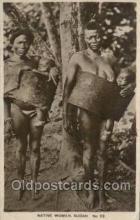 afr002276 - Native Woman Sudan African Nude Nudes Postcard Post Card