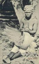 afr002287 - Making Baskets African Nude Nudes Postcard Post Card