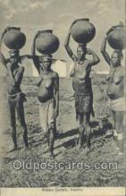 afr002294 - Water Carrers Kisumu African Nude Nudes Postcard Post Card